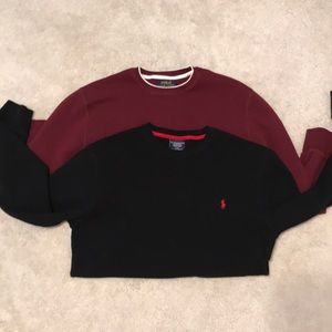 Two Polo RL crewnecks